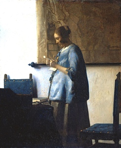 'Woman in Blue Reading a Letter', by Vermeer