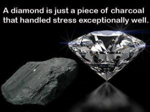 charcoal and diamond
