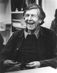 John Cage. Portrait by Susan Schwartzenberg/ The Exploratorium