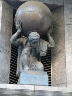 Atlas sculpture on Collins Street, Melbourne