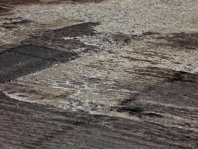 roughed-up road (16 January 2015)